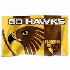 Official AFL Hawthorn Hawks Game Day Large Flag (NO STICK/FLAG POLE)