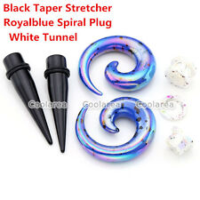 3 Pair Acrylic Spiral Taper Stretcher Ear Tunnel Plug Stretching Expander Gauges