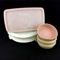 Lot 6 Vintage Tupperware Set Bowls Food Storage Containers Suzette 816 608 1286