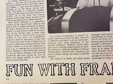 m9-9z ephemera 1970/s film article fun with frankenstein wilder feldman