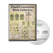 Church Vestments Banners Embroidery Designs Needlework History 17 Books CD B401