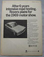 1969 Rover 2000 Original advert