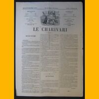 Journal LE CHARIVARI dessin de Draner 3 février 1874