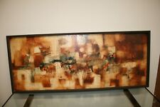 RARE WILLIAM DAVID COGLAND ABSTRACT PAINTING 1960S ATLANTA GA ART SIGNED MCM