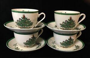 4 Sets Spode Christmas Tree Cup & Saucer - S3324-A12