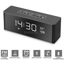 Portable Bluetooth Speaker Alarm Clock FM Radio AUX USB TF MP3 Rechargeable X5K8