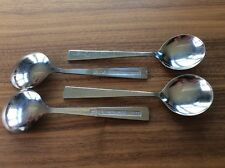 Delta Airlines Soup Spoons Set Of 4 - Silverware Vintage