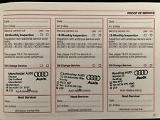 audi service book stamped-brand new and genuine,for all model vehciles-NEW *****