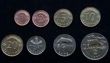 Latvia 8 coins set 1992-2009 UNC (#248)