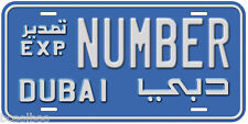 Dubai Export Any Number Name Novelty Auto License Plate C01