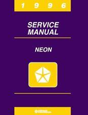 1996 Dodge Plymouth Neon Shop Service Repair Manual Engine Drivetrain Electrical