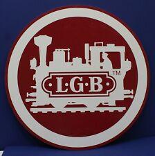 "Vintage LGB Round Hanging Dealer Shop Store Sign 19"" Diameter Exc"