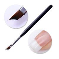 UV Gel Painting Brush Handle Manicure Pen French Nail Brush Acrylic Black Tool U
