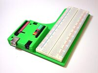 Arduino Uno Case With Breadboard, Neon Green 3D Printed ABS