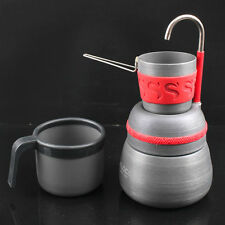 Portable Outdoor Camping Coffee Pot Machine Maker Stove Espresso Campfire 7868