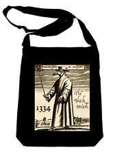 Black Plague Bird Gas Mask on Black Sling Bag Occult Book Bag 1334 Gothic Horror