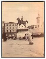Algérie, Alger (الجزائر ), Place du Gouvernement  Vintage albumen print Tirage