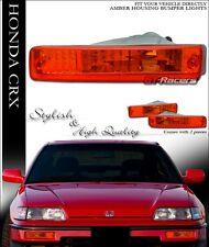 DEPO FOR 1990-1991 HONDA CRX CR-X JDM AMBER SIGNAL BUMPER PARKING LIGHTS LAMPS