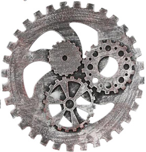 Retro Wooden Steampunk Gear Wall Hanging Decor for Home Bar Cafeteria
