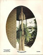 Beads & Fringe Plant Hanger Pattern - Craft Book: # Mp1 Macrame Portraits Book 1