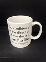 Thoreau Go Confidently Quotable Mugs Coffee Tea Cup 15 Oz Matte Finish 2002 G55