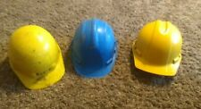 Hard hat, yellow, blue Lot of 3 construction Hard hat, used