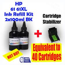 HP 61 61XL Refill Ink 2x100ml Black HP DESKJET 1000 2000 3000 1050 2050 3050