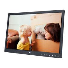 "15"" Digital Photo Frame LED Picture Video Player Black Remote Clock Calendar BM"