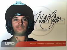 UFO AUTOGRAPH CARD Matt Zimmerman as Co-Pilot Jim MZ1