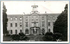 LONGFORD IRELAND ST.MEL'S COLLEGE ANTIQUE REAL PHOTO POSTCARD RPPC