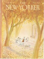 COVER ONLY ~The New Yorker magazine ~October Oct 20 1980 ~ Sempe Sempé quartet