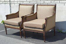 Pair of Walnut French Louie XVI Living Room Chairs Newly Upholstered & Restored