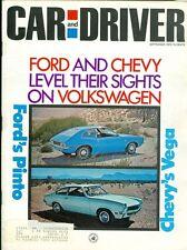 1970 Car & Driver Magazine: Ford Pinto/Chevy Vega/Volkswagen