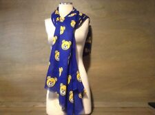 UCLA Bruins Scarf BEARS ON DARK BLUE LONG AND THIN SCARF 66 X 35 INCHES.  NICE !