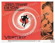 Vertigo Lobby Card Poster Hs 1958 James Stewart Kim Novak Alfred Hitchcock