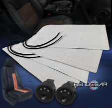 2X HEATED SEAT HEATER PADS +ROUND HI/MID/LOW SWITCH CR-V PRELUDE WRANGLER LANCER