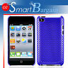 BLUE MESH Cover Case For iPod Touch 4G 4th Gen + Film