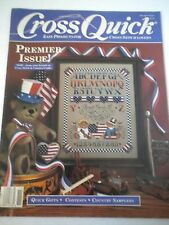 Cross Quick Magazine Premiere Issue 1988 Aug/Sept Easy Cross Stitch Projects