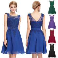 Vintage Blue Short Cocktail Party Formal Evening Ball Prom Dress Bridesmaid Gown