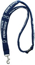 New! Penn State Nittany Lions Safety Clip Lanyard NCAA Key ID Badge Holder