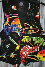 90s Vintage Planet Hollywood Big Print Vest S/M Retro Planets Palm Tree Logo