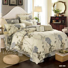 Beige Cotton Quilt/Doona/Duvet Cover Set Queen King Double Bed Linen Pillowcases