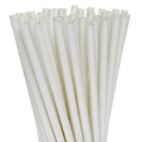 200 Biodegradable Paper Drinking Straws White Strong 3 ply Cafe Take Away BULK