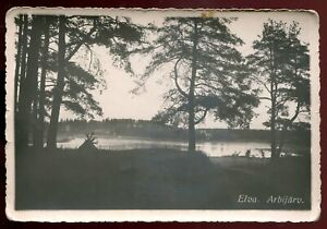 p1037 - ESTONIA Elva 1936 Lake Arbi. Real Photo Postcard by E. Kald