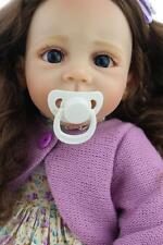 a year old bebe Reborn Baby Doll Educational toy Cloth Body rooted hair 60cm/24""