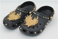 Vivienne Tam X Crocs Black Gold Dragon Studded Chain Classic Clogs Size 7