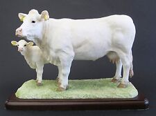 Border Fine Arts Charolais Cow & Calf  Figurine A26092 The Cattle Collection