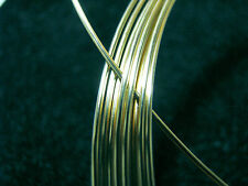 18k SOLID GREEN GOLD Wire ROUND 30 Gauge 1 FOOT ~ 100% RECYCLED USA MADE