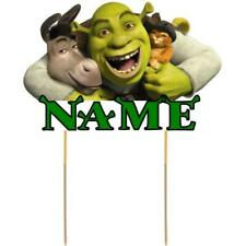 Shrek Cake Topper Personalised Kids Party Decoration Image Cut Card