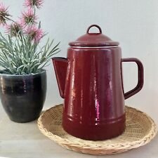 Paula Deen Signature Red Speckled Enamel On Steel 8 Cup Percolator/Coffee Pot